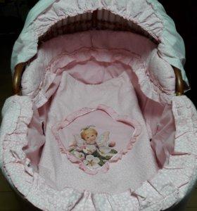 Кроватка люлька для младенца 0-9 мес