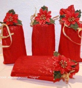 Мешочки для подарков новогодние🎄