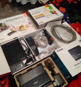 Роутер Dir-300 и TV-приставка Motorola