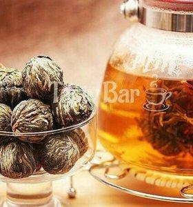Чай крупнолистовой вязаный зеленый