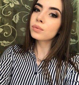 Профессиональный макияж и локоны