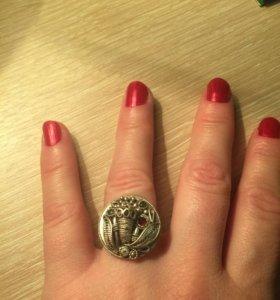Кольцо, серебро 925, р.18, ручная работа
