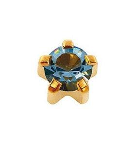 Серьги для ушей формы с камнем (R позолота)