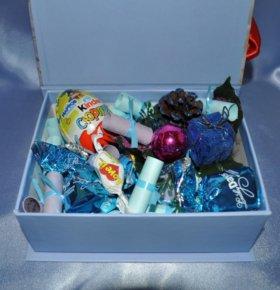 Подарок с фото и конфетами