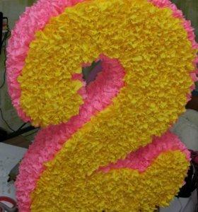 Цифра 2 для праздника