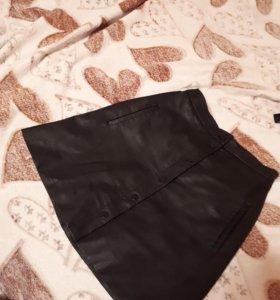 Кожаная юбка xxs