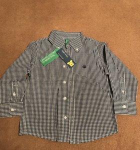 Рубашка Benetton новая 3-4года