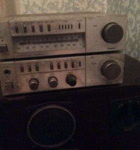 Колонки радиотехника S-90 и ресивер Ficher