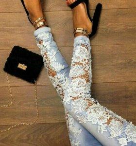 Новые кружевные джинсы.