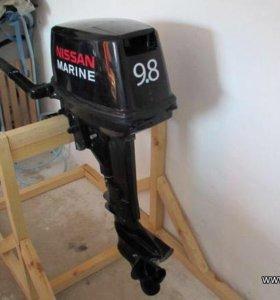 Ниссан марин 9,8 , лодка адмирал 305 с докумен