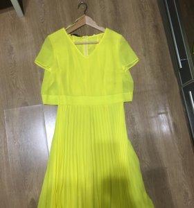 Платье натуральный шёлк новое.