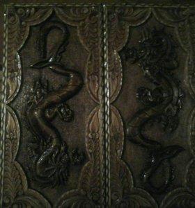 Нарды резные дракон