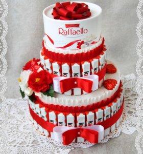 Торт из киндеров. Подарок на день рождения