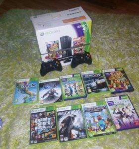 Xbox 360 + Kinect + 2 Джостика