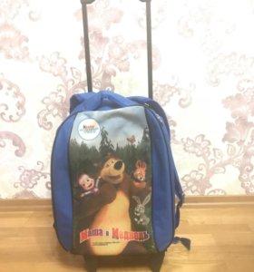 Детский чемодан-рюкзак