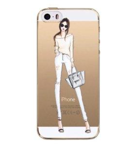 Чехол для IPhone 6/6s. Дама с сумкой. 181217