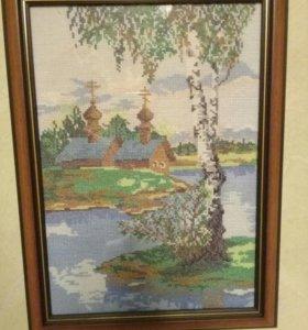Картина из мулине