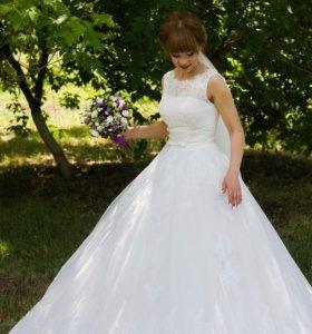 Шикарное свадебное платье!