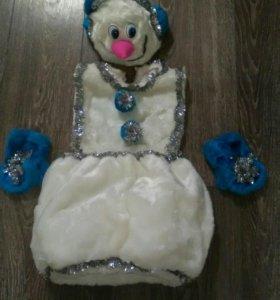 Снеговик- карнавальный детский костюм