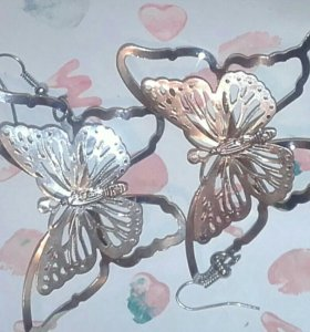 Серьги(бабочка)