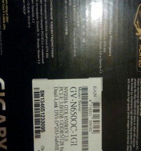 Продам gigabit geforce gtx 650 1gb