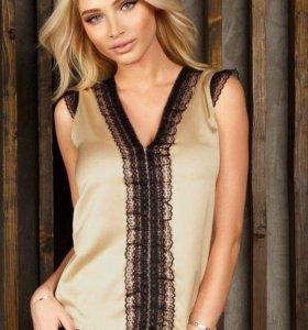 Новая легкая шелковая блузка