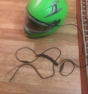 Шлем для снегохода с подогревом