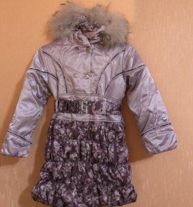 Пальто зимнее 128