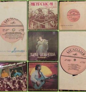 Виниловые пластинки 80-90-х гг