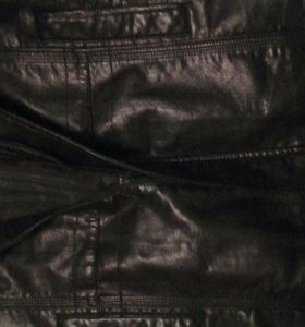 Кожанная куртка- пиджак.