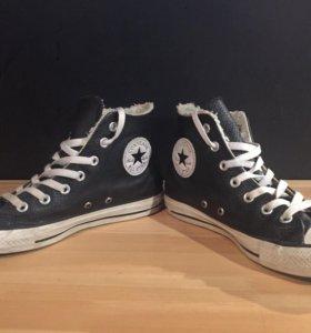 Кросовки Converse ALL STAR Женские чёрные кожаные