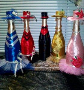 Оформление бутылок на ваши семейные праздники
