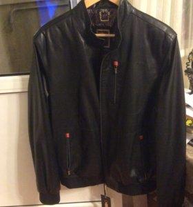 Мужская кожаная куртка новая