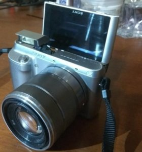 Sony NEX-F3 kit 18-55 компактная замена зеркалки