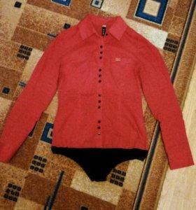 Красная рубашка - боди