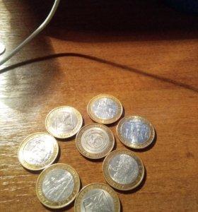 Монеты набор 5 8штук