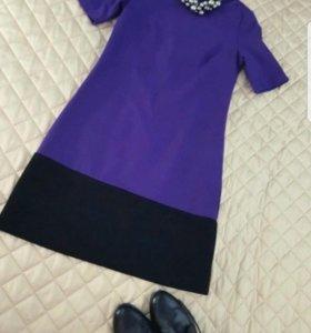 Новое шерстяное платье хс