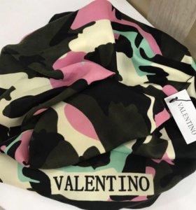Палантин Valentino 100% хлопок, новый