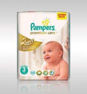 Подгузники Pampers 3 premium care