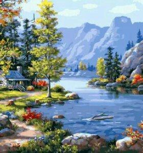 Картина по номерам Домик в горах