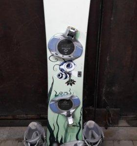 сноуборд с ботами37- 38 размер