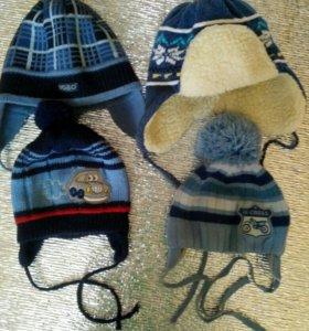 Детские шапки. Носочки вязанные.
