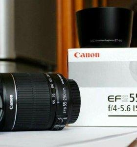 Новый объектив Canon 55-250