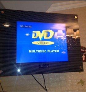Жк телевизор Rising. DVD встроенный.