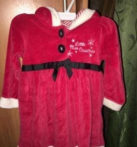 Новогодний костюм для девочки до 1 года