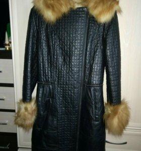 Кожанное пальто (лиса)