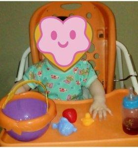 Стол для кормления ,качеля,кресло качалка,3в1_