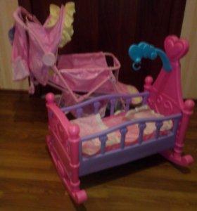 Набором коляска+кроватка.
