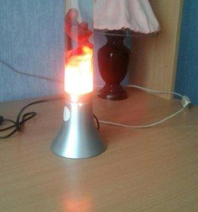 Лампа светящиеся с воском.