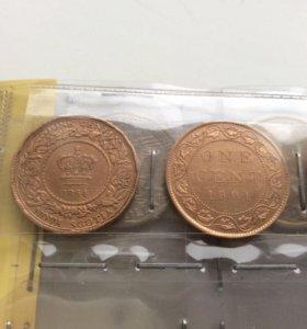 Продам 1 цент Канада 1864 г.